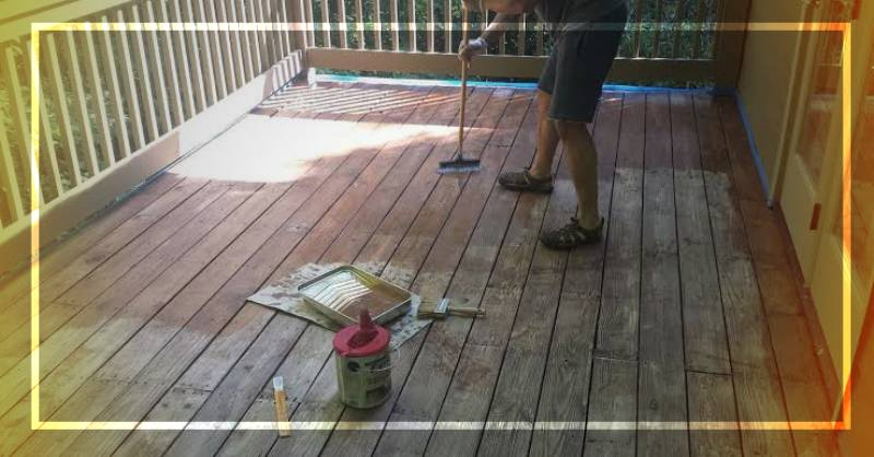 how to stain a deck for the first time