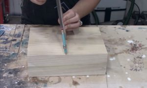 how to make a wooden bowl . Step 1 - Pattern Preparation & Guideline Drawing