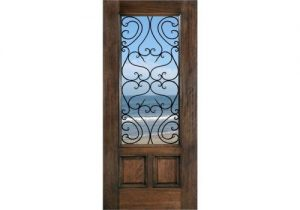 ETO Doors Tuscany - Mahogany Wood French Style 2-Panel Entry Door
