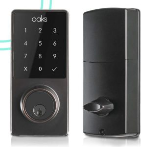 Oaks Smart Lock For Electronic Front Door Deadbolt for Keyless Access