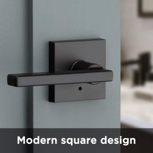 Kwikset 91550-029 Halifax Door Handle Lever with Modern Contemporary Slim Square Design