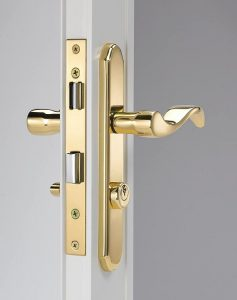 Wright Products VMT115PB, BRASS Serenade Style Mortise Set