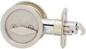 Kwikset 335 Round Privacy Bed or Bath Pocket Door Lock